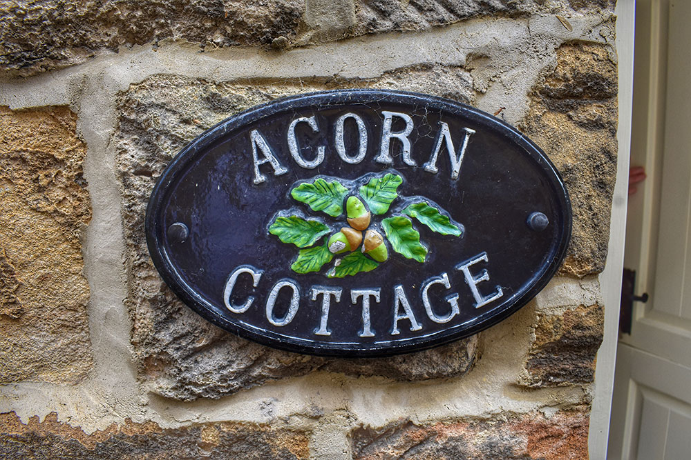 Acorn Cottage Plaque